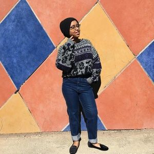 Sweaters - Vintage 1980's Abstract Print Sweater